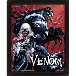 Poster 3D Lenticolare - Marvel Comics - Venom and Black Cat - Poster - Teeth and Claws Venom Cover