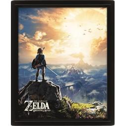 Poster 3D Lenticolare - Video Games - Nintendo Zelda - Poster - Zelda Sunset