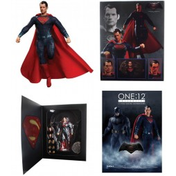 Mezco Toys - One Twelve Collective - DC Comics - Batman Vs Superman D.O.J. - Superman - Action Figure - Cloth Version Sc