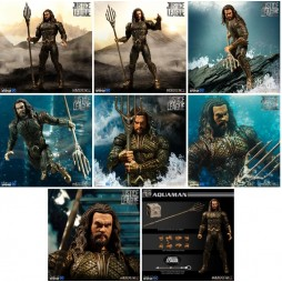 Mezco Toys - One Twelve Collective - DC Comics - Justice League Movie - Aquaman - Action Figure - Cloth Version Scala 1: