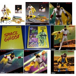 Mezco Toys - One Twelve Collective - Hanna & Barbera - Space Ghost Animated Version - Action Figure - Cloth Version Scal