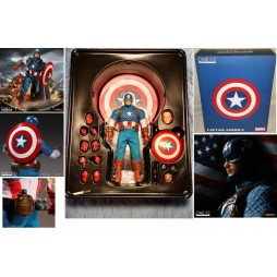 Mezco Toys - One Twelve Collective - Marvel Comics - Captain America Comics Version - Action Figure - Cloth Version Scal