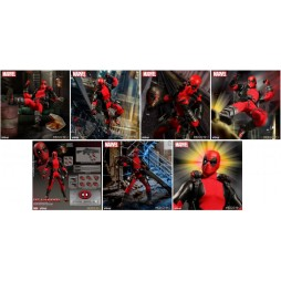 Mezco Toys - One Twelve Collective - Marvel Comics - Deadpool Comics Version - Action Figure - Cloth Version Scala 1:12