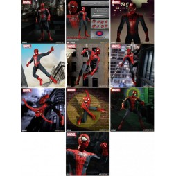 Mezco Toys - One Twelve Collective - Marvel Comics - Spider-Man Comics Version - Action Figure - Cloth Version Scala 1:1