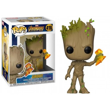 POP! Marvel 416 The Avengers Infinity War Groot Wth Stormbreaker - Vinyl Bobble-Head Figure