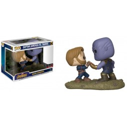 POP! Marvel 698 Marvel Avengers Infinity War Movie Moments Captain America vs. Thanos EMP Exclusive 2-Pack Bobble- Head