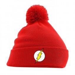 Dc Comics - Batman - Beanie Con Pom-Pom - Flash Logo on Red