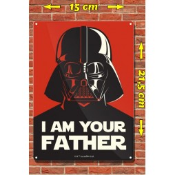 Star Wars - Metal Tin Plate Poster - I Am Your Father - 15 x21,5 cm