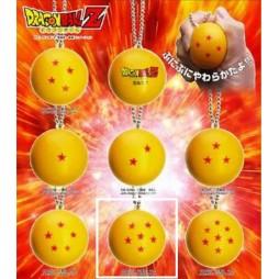 Dragon Ball Z - Strap - Portachiavi - Sfere del Drago Antistress - 6 stelle