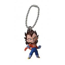Dragon Ball Z - Strap - Portachiavi - Ultimate Deformed Mascot 04 - Strap SET - SS4 Vegeta - Gold belt buckle/ Yellow bo