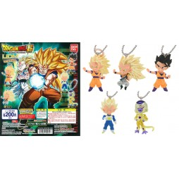 Dragon Ball Z - Strap - Portachiavi - Ultimate Deformed Mascot The Best 12 - SS3 Goku - Red stripe and knot painted on b