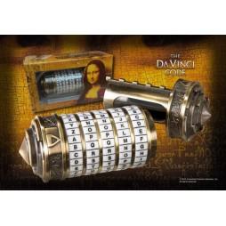 Davinci's Code - Il Codice Davinci - SCALED - Mini Cryptex Real Brass/Mother of Pearlx Prop Replica - NN5335
