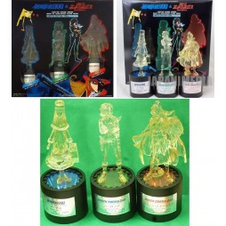 Galaxy Express 999 & Queen Emeraldas - LIGHT UP FIGURE SERIES - HIGH-GRADE CLEAR RESIN LIMITED EDITION - MAETEL & HARLOC