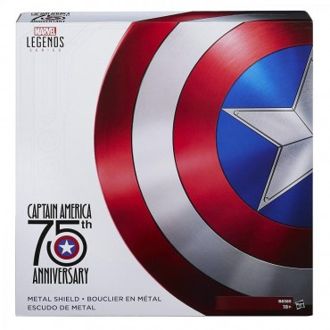 Marvel Legends - Avengers - 1/1 SCALE 75th Anniversary Captain America Metal Shield - Scudo Capitan America in Metallo -