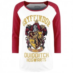 Harry Potter - Gryffondor Quidditch - Long Sleeve - Donna LARGE