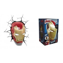Marvel - Iron Man - 3D Ambient Light - Iron Man Helmet - Elmo Iron Man