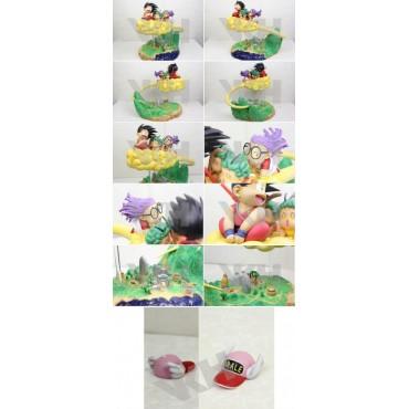Dragon Ball x Arale Chan - VKH Studio - 1:6 Scale Statue/Diorama - Original Manga Version Son Gokou Arale and Gatchans o