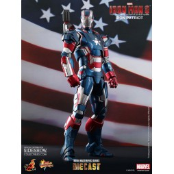 Iron Man 3 12 Iron Patriot Hot toys DIE CAST