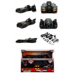 DC Comics - Batman - Build N\' Collect - Diecast Kit - 1/24 Scale - Batman The Movie 1989 - 1989 Batmobile + Batman Die