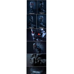 Terminator - Terminator 2 Judgement Day - T-800 Endoskeleton Face Mask - Life Size Bust 1:1 - Limited Edition 327/800