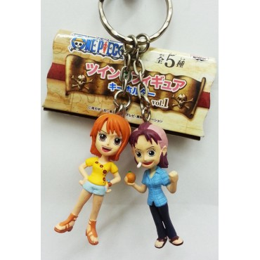 One Piece - Keyring - Twins Vol.1 Keyring Nami & Bellemer